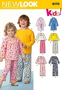 Look Sewing Pattern 6170 - Toddlers' and Child's Pajamas Sizes: 1/2-8 from New Look
