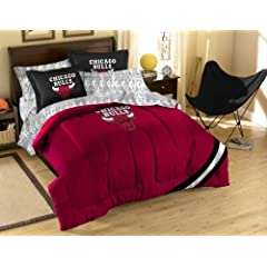 NBA Chicago Bulls Full Bed in a Bag with Applique Comforter by Northwest