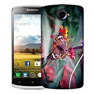 Snoogg Abstract Unique Butterfly Designer Protective Phone Back Case Cover For Lenovo S920