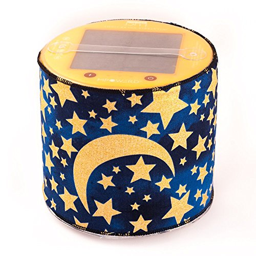 Solar Wireless Baby Night Light, featuring the Waterproof MPOWERD Luci Inflatable Solar Light with USA Handcrafted Nightlight Cover by Terra Friendly. Great Baby Shower Gift. (Moons and Stars) (Starry Night Sun Shade compare prices)