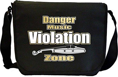Violin Violation Zone - Sheet Music Document Bag Borsa Spartiti MusicaliTee