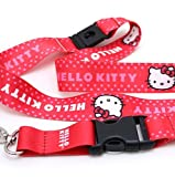 Licensed Hello Kitty Lanyard w/ Key Chain Clip