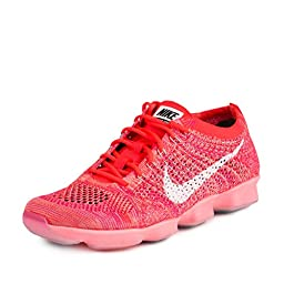 Nike Womens Wmns Flyknit Zoom Agility Bright Crimson/White-Light Aqua Synthetic Size 10