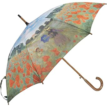 Galleria Monet Poppy Field Auto Stick Umbrella (Poppy Field)