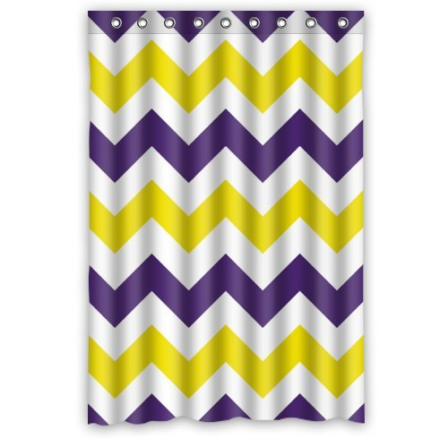 Purple And Yellow Zigzag Chevron Pattern Shower Curtain