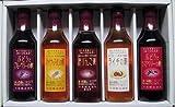 内堀醸造 フルーツビネガー ぶどうとブルーベリーの酢・パイナップルの酢・純りんご酢・ライチの酢・ぶどうとラズベリーの酢 360ml 5本セット