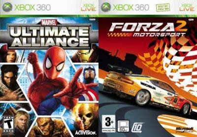 Activision Marvel Ultimate Alliance & Forza 2 Xbox 360 Deep Rich Customizable-Marvel Popular marvel 198g