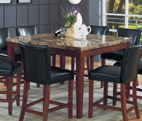 black deal on coaster classy marble top square dining table inch height deals toronto sets used tables sale