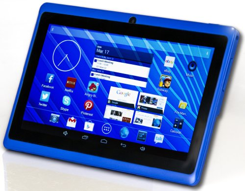 DeerBrook® 7 Android 4.4 KitKat Tablet PC, Dual Core 1.5GHz A23 Processor, 512MB / 4GB, Dual Camera, Bluetooth, G-Sensor (Blue)