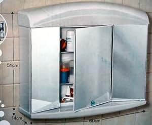 spiegelschrank alibert delta 3t rig mit licht. Black Bedroom Furniture Sets. Home Design Ideas