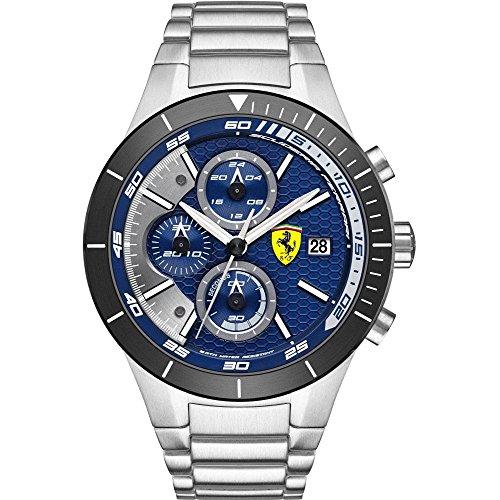 Scuderia Ferrari Orologi hombre-reloj Red Rev EVO analógico de cuarzo de acero inoxidable 0830270
