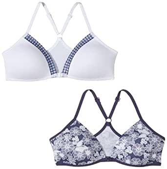 Schiesser - 2Er-Pack Softbra - Soutien-gorge Fille - Multicolore (sortiert 1) - FR : 80A (Taille fabricant : 65A)