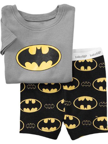 Cm-Cg Little Boys' Batman Short Sleeve Pajama Sleepwear Sets 2-7 Y
