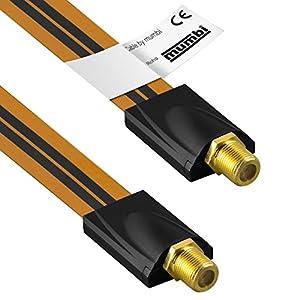 mumbi Fensterdurchführung für SAT Kabel (F-Kupplung auf F-Kupplung) extrem flach