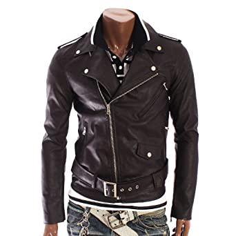 herren lederjacke herren biker lederjacke rlj2. Black Bedroom Furniture Sets. Home Design Ideas