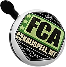 Bicycle Bell Airportcode FCA Kalispell MT by NEONBLOND