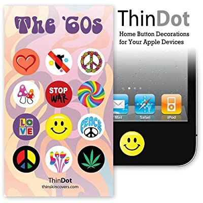 "ThinDot Home Button Decals for iPad, iPhone and iPod Touch ""The 60's"""