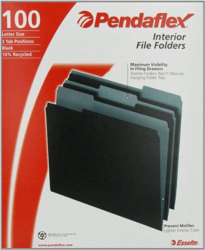 Yuoo New For Pendaflex 421013bla Pendaflex Interior File Folders 1 3 Cut Top Tab Letter