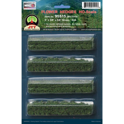 "JTT Scenery Products Flowering Plants Series: Flower Hedges, 5"" - 1"