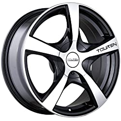 Touren TR9 18 Machined Black Wheel / Rim 5×105 & 6×120 with a 40mm Offset and a 72.62 Hub Bore. Partnumber 3190-8832M