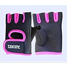 Wrist Guard Gloves - Half Finger Cycling ,1 Pair (Hot Pink) Color: Hot Pink(M), Model: