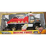 Tonka Rescue Force Road Service Tow Truck W Lights & Sounds