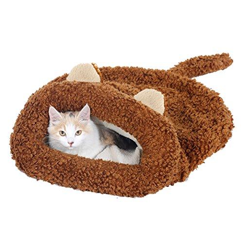 Cat Ear Shape Pet Bed Soft Dog House Cotton Cat Sleeping