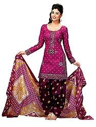 Gokals Women's Cotton Unstitched Salwar Suit (G824_Pink_Free Size) (G824)