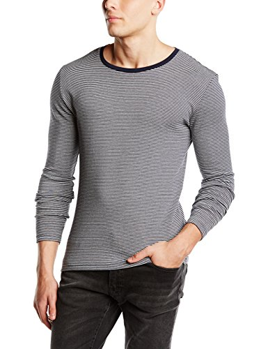 SELECTED HOMME - SHDouble ls o-neck ID, Maglione da uomo, bianco (weiß - weiß), L