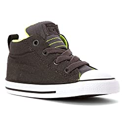 Converse Baby Boy\'s Chuck Taylor All Star Street (Infant/Toddler) - Storm Wind/Thunder/Safety Yellow - 4 Infant