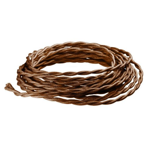 12 Ft. - Rayon Antique Wire - Brown - 20 Gauge - Twisted Cord