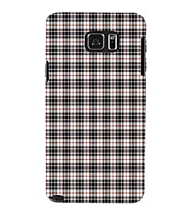 EPICCASE intriguing checks Mobile Back Case Cover For Samsung Galaxy Note 5 (Designer Case)