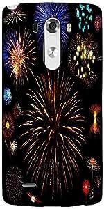 Snoogg Colorful Fireworks Designer Protective Back Case Cover For LG G3