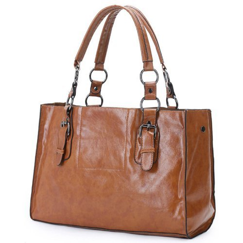 MG Collection Mellieha 2 In 1 Oversize Shopper Tote Shoulder Bag, Brown, One Size MG Collection B005DIBF1W