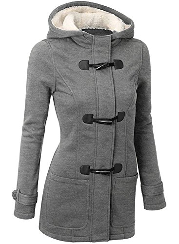 BYD da Donna Giacca Cappotto con Cappuccio Giacche Abbottonato Parka Invernale Outwear