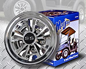 GOLF CART SS HUBCAPS HUB CAPS FITS YAMAHA CLUB CAR EZ-GO 8""