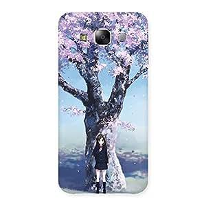 Ajay Enterprises remier Cherry Blossom Multicolor Back Case Cover for Samsung Galaxy E5