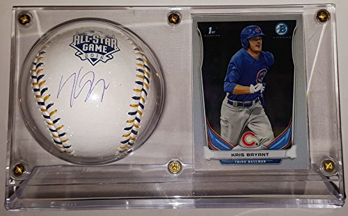 Kris Bryant Signed Cubs All Star Game Baseball & 2015 Topps Rookie Card - JSA Authenticated COA - In Ultra Pro Display Case (2015 All Star Game compare prices)