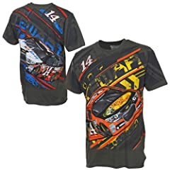 Tony Stewart Chase Authentics NASCAR Bass Pro Mobil 1 Total Print T-Shirt by Chase Authentics