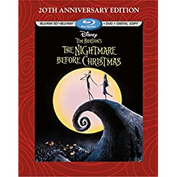 Tim Burton's The Nightmare Before Christmas - 20th Anniversary Edition (Blu-ray 3D/Blu-ray/DVD + Digital Copy)