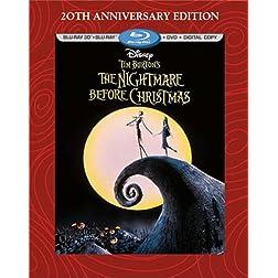 Tim Burton's The Nightmare Before Christmas - 20th Anniversary Edition (Blu-ray 3D/Blu-ray/DVD + Digital Copy)