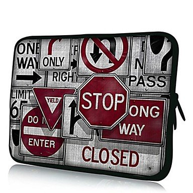 Ty Elonno Road Signs Neoprene Laptop Sleeve Case Bag Pouch Cover For 15¡¯¡¯ Macbook Pro Retina Dell Hp Acer