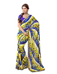 FadAttire Georgette Chiffon Printed Saree With Blouse FAPKS24