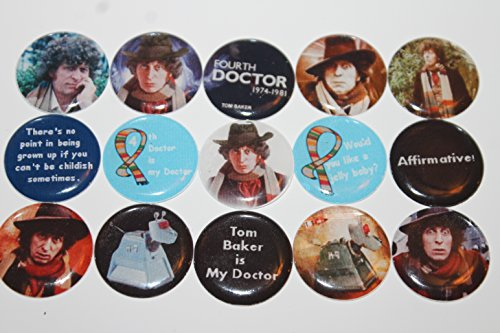 Geocache Refrigerator Magnets - Doctor Who Theme - The Fourth Doctor Tom Baker front-158950