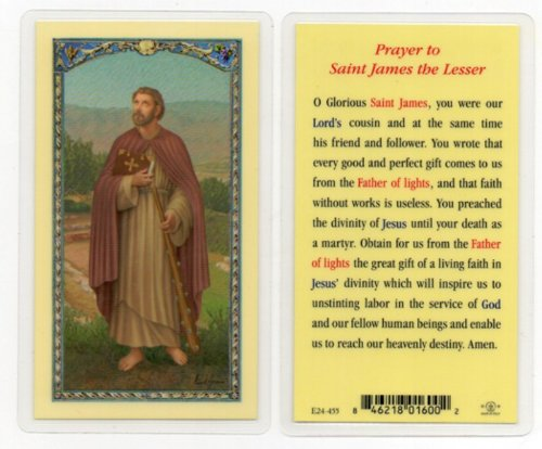 Prayer to St. James the Lesser Holy Card (E24-455)