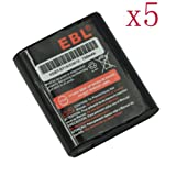 EBL® 5 Pack 3.6V Radio Shack Battery for 53615 T9500R T4900 T5800 HKNN4002B 700mAh Ni-MH