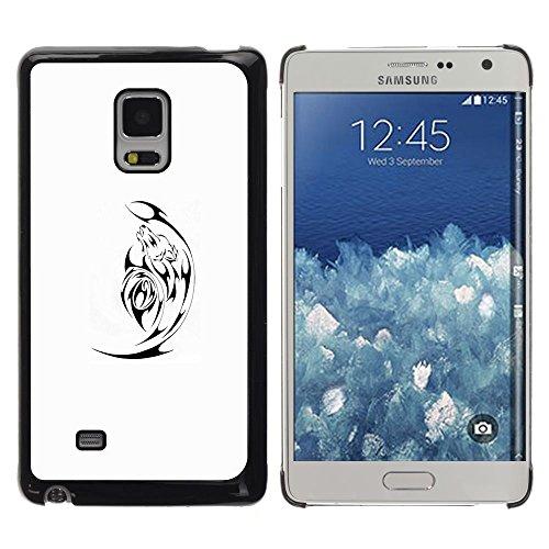 For Samsung Galaxy Mega 5.8 / i9150 / i9152 , S-type® Black Minimalist White Satan - Art & Design plastica dura Guscio Protettivo Cassa Cover