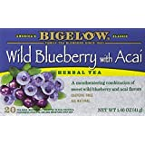 Bigelow Tea Wild Blueberry with Acai Herb Tea, 20-Count (Pack of 6) (Tamaño: Package size of 1.46 oz)