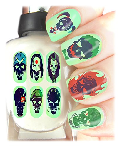 Suicide Squad Nail Art avvolge facile da usare, alta qualità Nail Art adesivi per ogni occasione. Ideale Regalo di natale/regalo-Grande calza