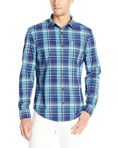 Original Penguin Men's Plaid Button-Up